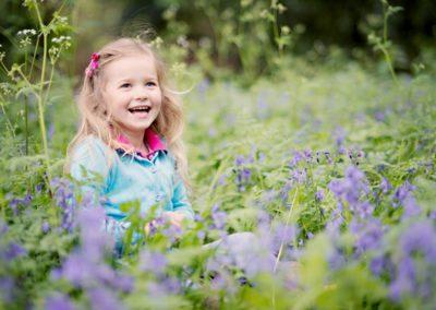 Bluebell photo shoot family photographer Milton Keynes