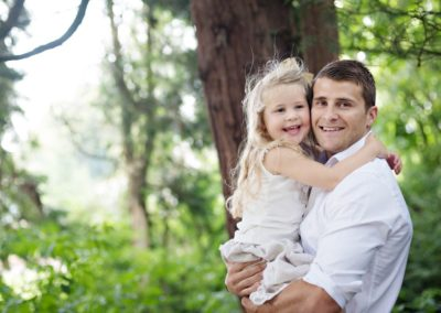 Family Portraits outdoors in Buckinghamshire Dad and daughter in the park